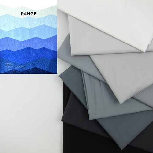 Range Quilt Top Kit in Grayscale