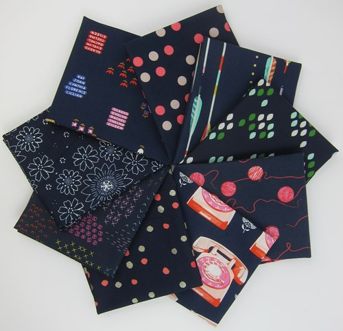 Cotton + Steel Navy Remix Fat Quarter Bundle
