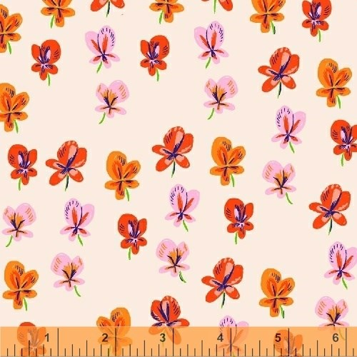 Pansies in Blush LAWN