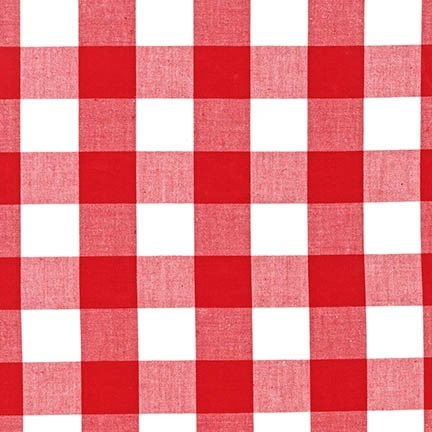 "Carolina Gingham 1"" in Red"