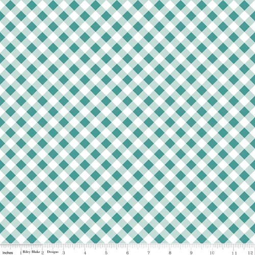 Gingham in Teal