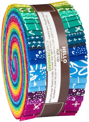 Blueberry Park Bright Roll Up by Karen Lewis Textiles
