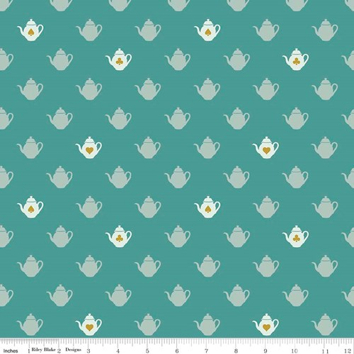 Tea Pot in Teal Metallic