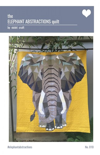 Elephant Abstractions Quilt Pattern by Violet Craft