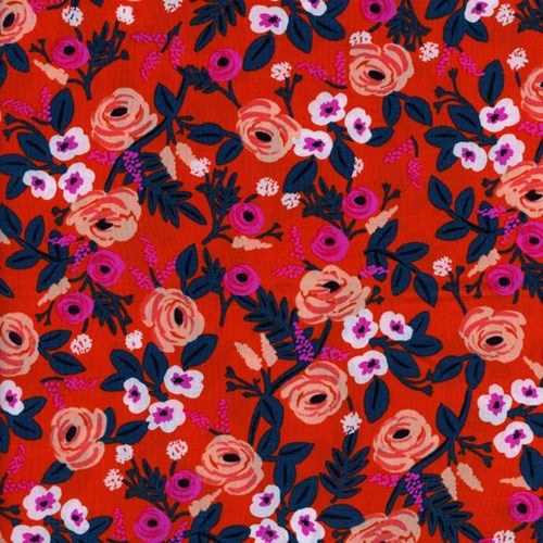 Painted Roses in Orange RAYON