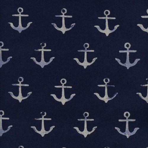Anchor in Navy CANVAS
