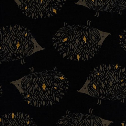 Prickles in Black Metallic CANVAS