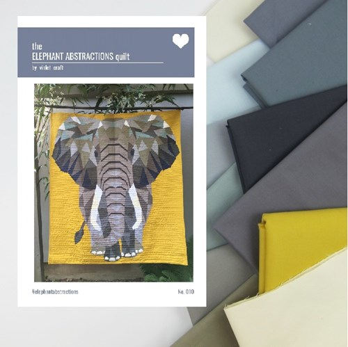 Elephant Abstractions Quilt Top Kit