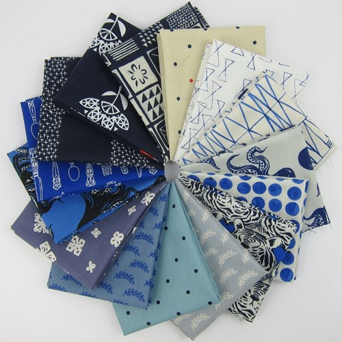 Bluebird Favorites Fat Quarter Bundle by Cotton + Steel