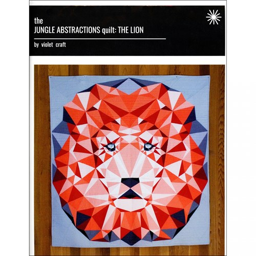 Jungle Abstractions: The Lion Quilt Pattern by Violet Craft