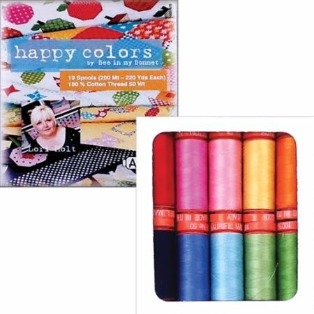 Happy Colors by Lori Holt Aurifil Thread Set