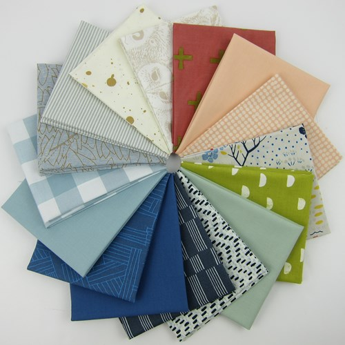 Design Star December 2016 Fat Quarter Bundle Curated by Anna Graham of Noodlehead
