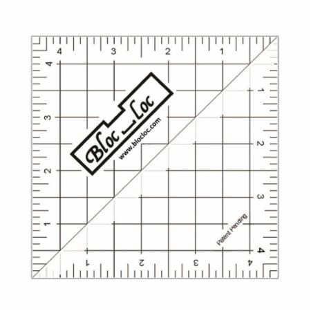 "4.5"" Half Square Triangle Ruler by Bloc Loc"