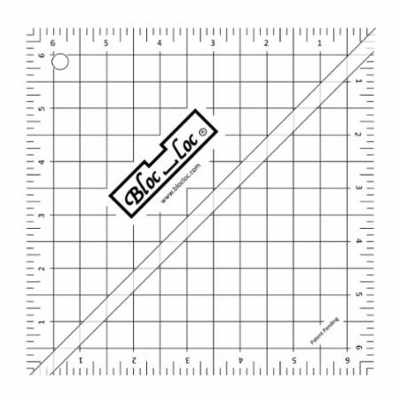 "6.5"" Half Square Triangle Ruler by Bloc Loc"
