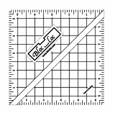 "5.5"" Half Square Triangle Ruler by Bloc Loc"