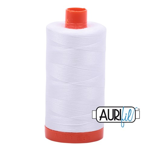 Aurifil Thread in White 2024 - 40wt