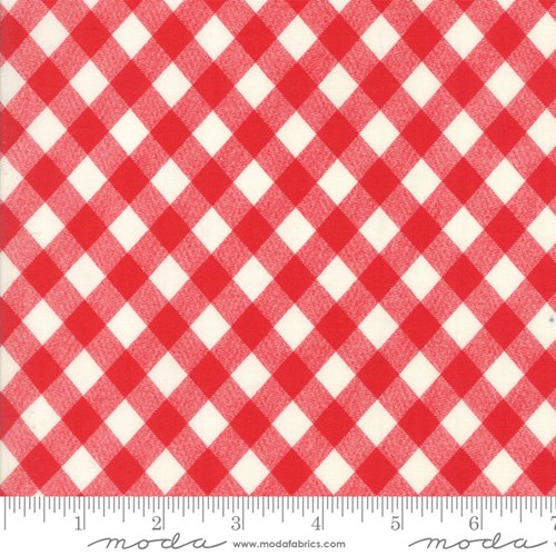 Vintage Picnic Gingham in Ruby Red
