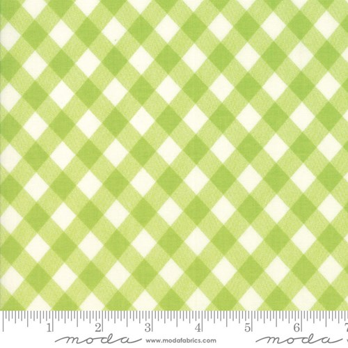 Vintage Picnic Gingham in Light Green