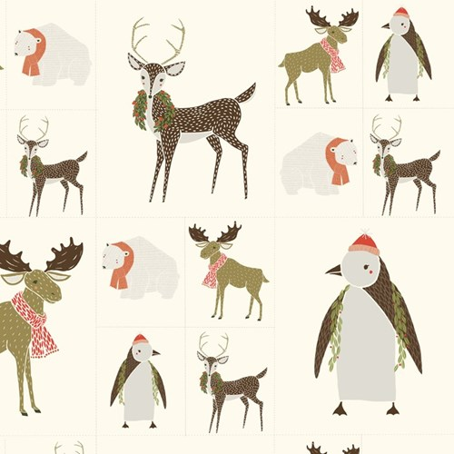 Winter Critters Galore in Multi PANEL