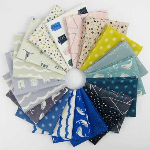 Kujira and Star Fat Quarter Bundle by Rashida Coleman-Hale for Cotton and Steel
