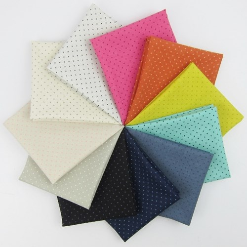 Add It Up Basics Fat Quarter Bundle by Cotton and Steel