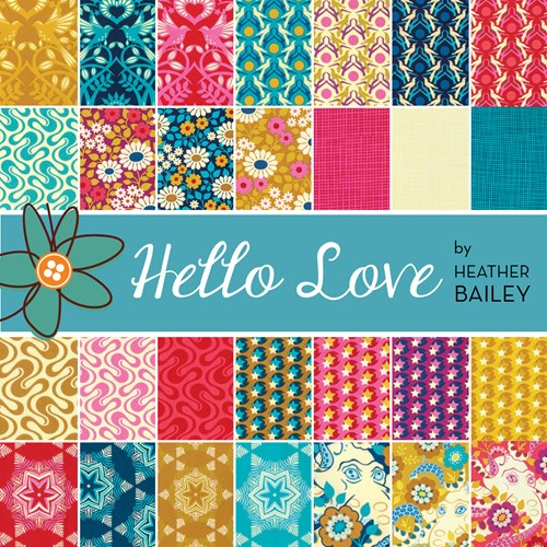 Hello Love Charm Pack by Heather Bailey