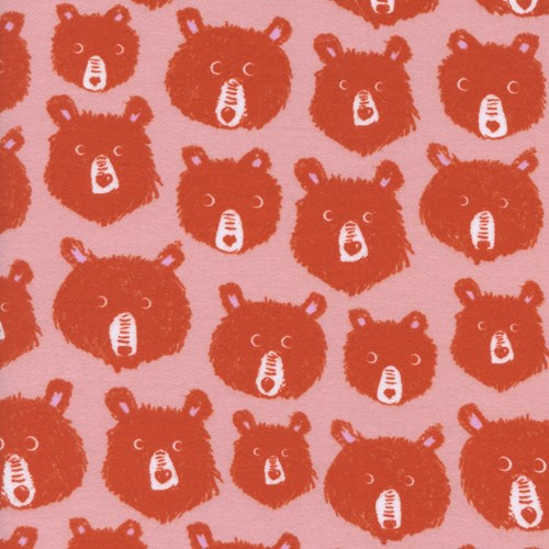 Teddy and the Bears in Pink BRUSHED COTTON