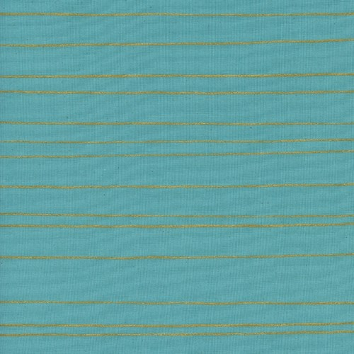 Gold Stripe in Aqua Metallic