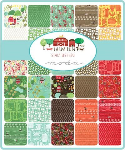 Farm Fun Charm Pack by Stacy Iset Hsu for Moda