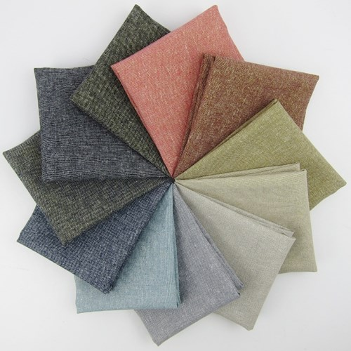 Essex Yarn-Dyed Metallic Fat Quarter Bundle