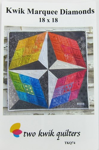 Kwik Marquee Diamonds Mini Quilt Pattern by Two Kwik Quilters