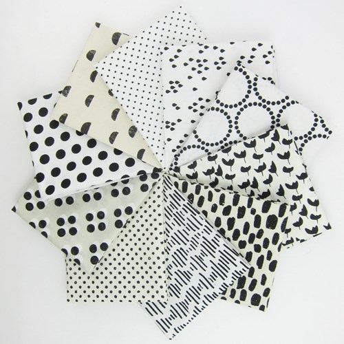Black and White Low Volume Fat Quarter Bundle