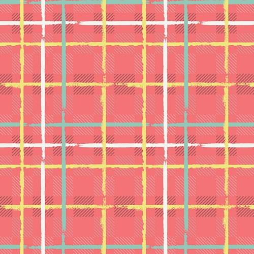 Capsules Mad Plaid Electric Watermelon in Plaid