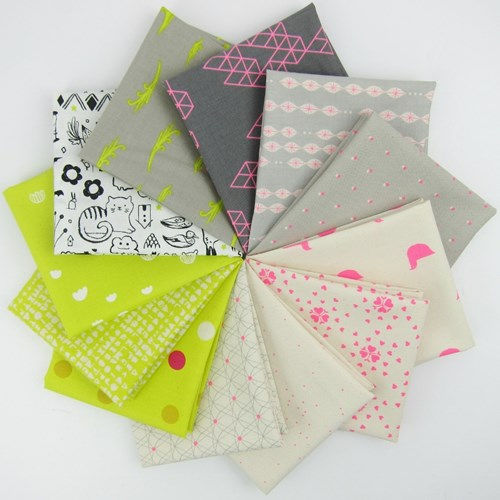 Cotton + Steel Neons Fat Quarter Bundle