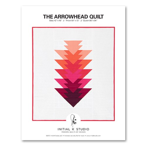 Arrowhead Quilt Pattern by Initial K Studio