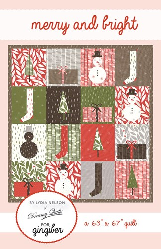 Merry and Bright Quilt Pattern by Lydia Nelson for Gingiber