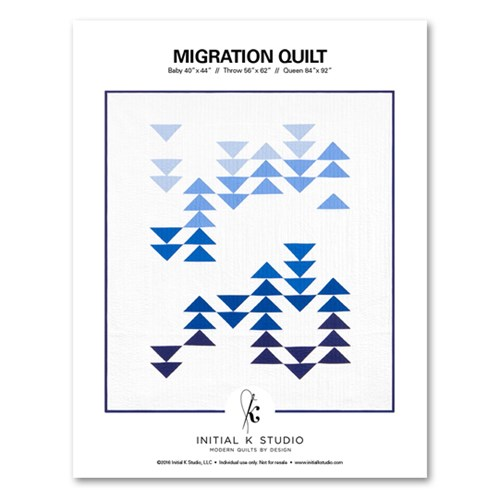 Migration Quilt Pattern by Initial K Studio
