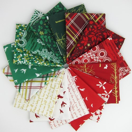 Christmas at Brambleberry Ridge Fat Quarter Bundle by Violet Craft