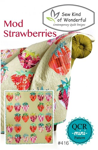 Mod Strawberries Quilt Pattern by Sew Kind of Wonderful