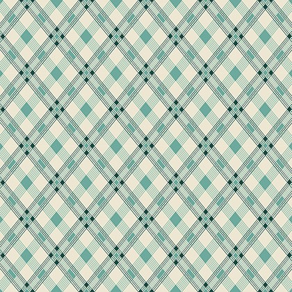 Open Plaid in Teal