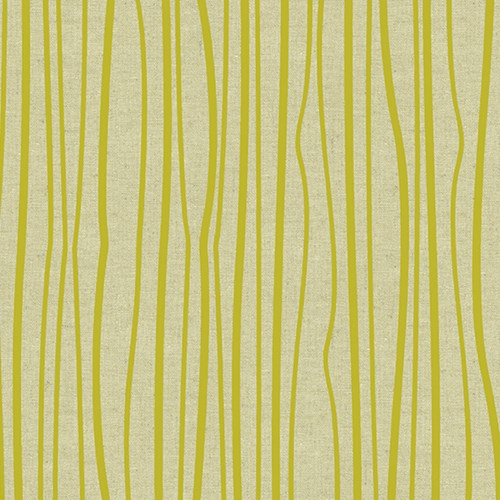 Seagrass on Tailored Cloth in Chartreuse