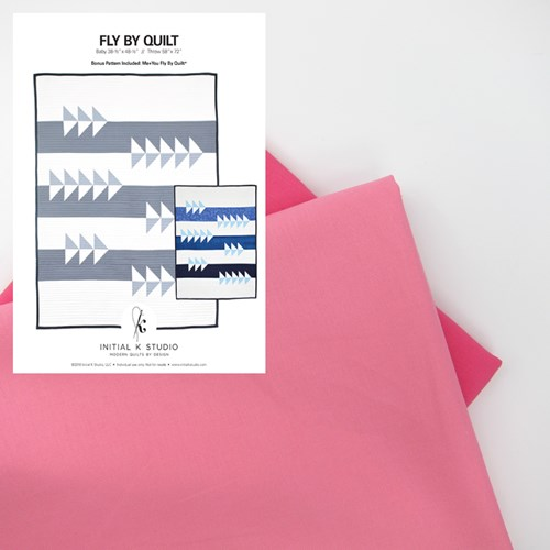 Fly By Quilt Kit in Pink - Initial K Studios