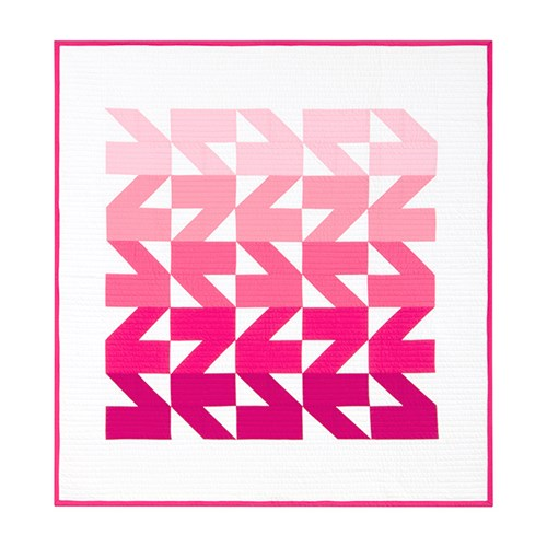 Modern Waves Quilt Kit in Pink - Throw Size - Initial K Studios