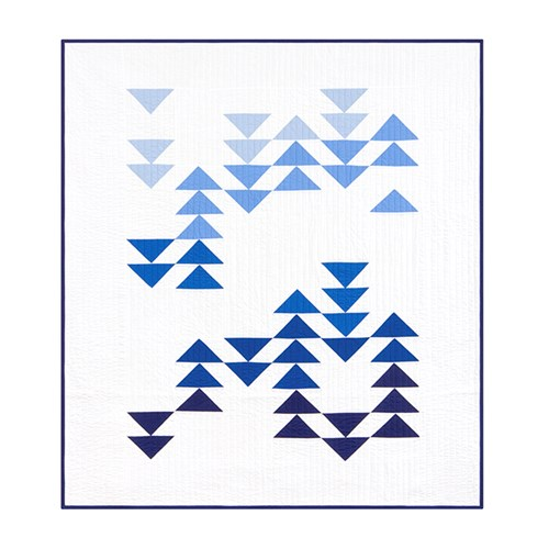 Migration Quilt Kit in Blue - Throw Size - Initial K Studio