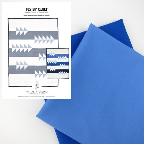 Fly By Quilt Kit in Blue - Throw Size - Initial K Studio