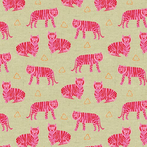 Tigers in Fuschia CANVAS