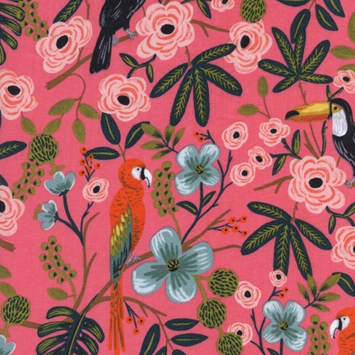 Paradise Garden in Coral RAYON