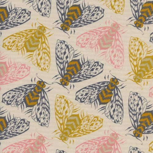 Bees in Yellow UNBLEACHED COTTON