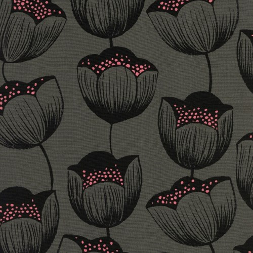 Magic Tulips in Grey RAYON