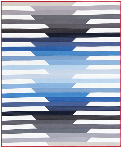 Cascade Throw Size Quilt Kit in Ombre - Initial K Studio